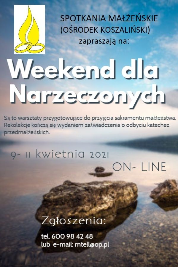 Read more about the article WEEKEND DLA NARZECZONYCH 9-11.04.2021 – online