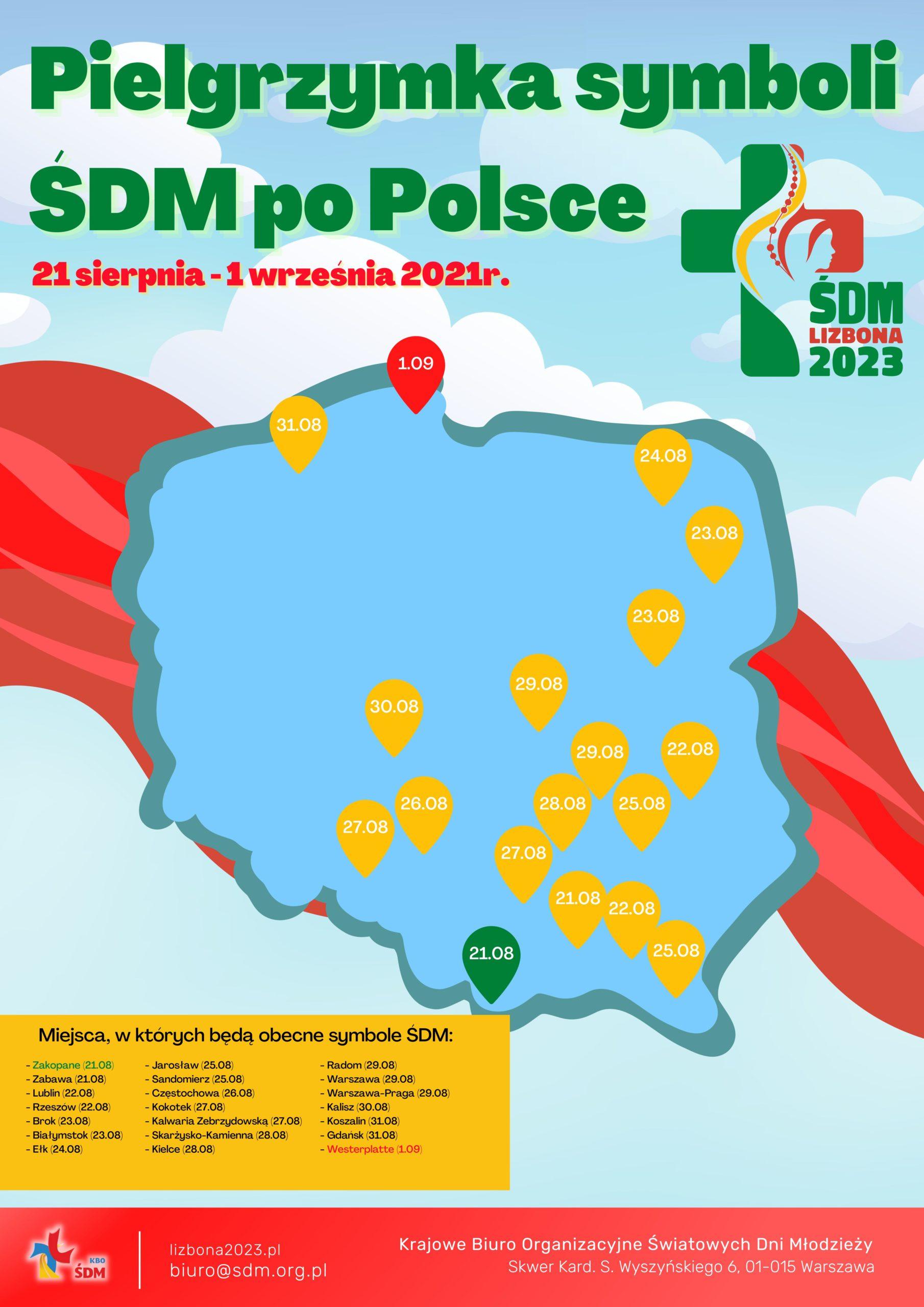 You are currently viewing Pielgrzymka symboli ŚDM po Polsce